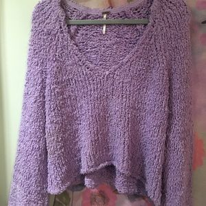 free people knit purple sweater